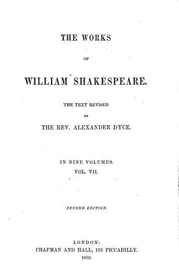 The Works of William Shakespeare  Macbeth  Hamlet  King Lear  Othello  Antony and Cleopatra  Cymbeline PDF