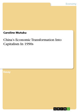 China   s Economic Transformation Into Capitalism In 1990s PDF
