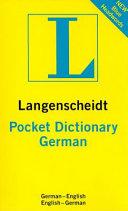 Langenscheidt Pocket German Dictionary PDF