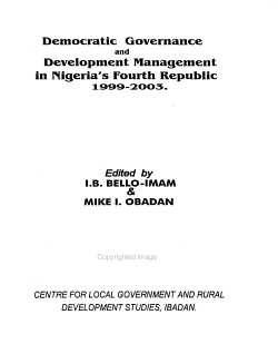 Democratic Governance and Development Management in Nigeria s Fourth Republic  1999 2003 PDF