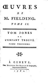 Oeuvres de M. Fielding: Tom Jones