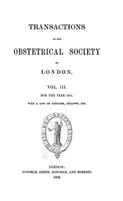 Transactions of the Obstetrical Society of London PDF