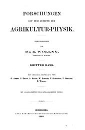 Forschungen Auf Dem Gebiete Der Agricultur-physik ...: Band 3