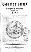 Schematismus f  r das K  nigreich B  hmen auf das Jahr 1808 PDF