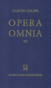 Opera omnia: Tomus XX, Index in Galeni libros
