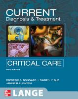CURRENT Diagnosis and Treatment Critical Care  Third Edition PDF
