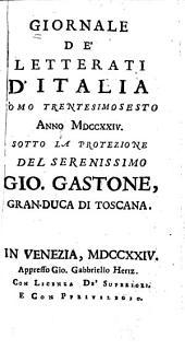 Giornale de' letterati d'Italia: Volume 36