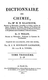Dictionnaire de chimie: Volume 4