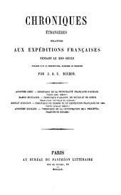 Chroniques étrangères relatives aux expéditions franc̜aises pendant le XIIIe siècle