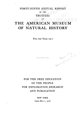 Annual Report of the American Museum of Natural History: Volume 49