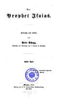 Der Prophet Jsaias  Uebersetzt und erkl  rt von Peter Schegg PDF