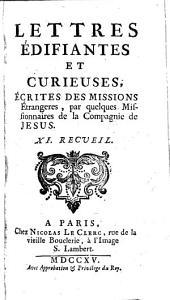 Lettres edifiantes et curieuses: ecrite des missions etrangères, Volume11