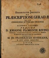 Dissertatio iuridica De praescriptione geradae