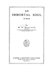 An Immortal Soul: A Novel