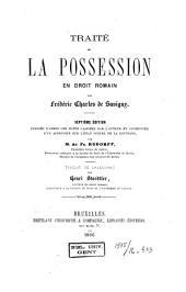 Traité de la possession en droit romain