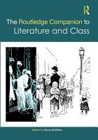 The Routledge Companion to Literature and Class PDF