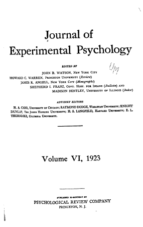 Journal of Experimental Psychology PDF