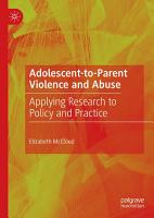 Adolescent to Parent Violence and Abuse PDF