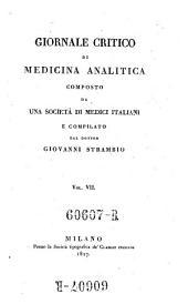 Giornale critico di medicina analitica, composte da una societa di medici italiani e compilato da Giovanni Strambio: Volume 7