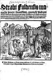 Strabi Fuldensis monachi poete suavissimi0