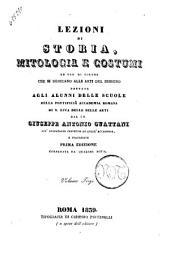 Lezioni di storia, mitologia e costumi... Giuseppe Antonio Guattani: Volume 3