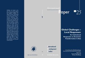 Global Challenges   Local Responses PDF