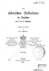 Die historischen Volkslieder der Deutschen vom 13. bis 16. Jahrhundert: Bd. 1507-1529