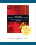Business  Government  and Society PDF