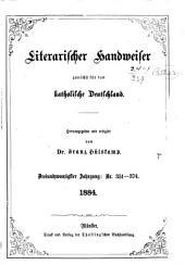 Literarischer Handweiser zunächst für alle katholische Deutschland: Band 23,Ausgaben 351-374