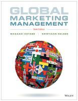 Global Marketing Management  6th Edition PDF