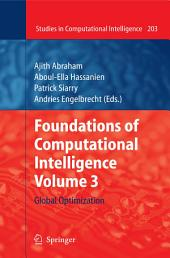 Foundations of Computational Intelligence Volume 3: Global Optimization
