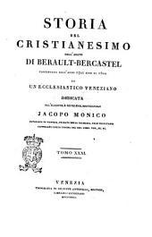 Storia del cristianesimo continuata dall'anno 1721 sino al 1800 da un ecclesiastico veneziano dell'abate di Berault-Bercastel: Volume 31