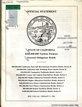 Official Statement State of California  450 000 000 Various Purpose General Obligation Bonds PDF