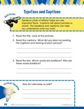 Read & Succeed Comprehension Level 1: Typeface & Captions Passages and Questions