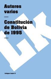 Constitución de Bolivia de 1995