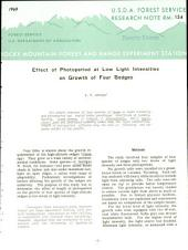 Effect of Photoperiod at Low Light Intensities on Growth of Four Sedges
