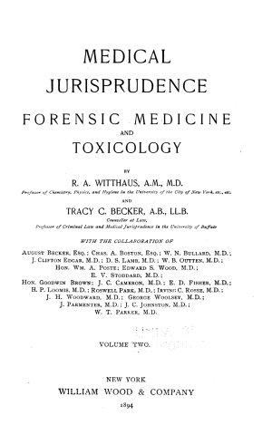 Medical Jurisprudence  Forensic Medicine and Toxicology
