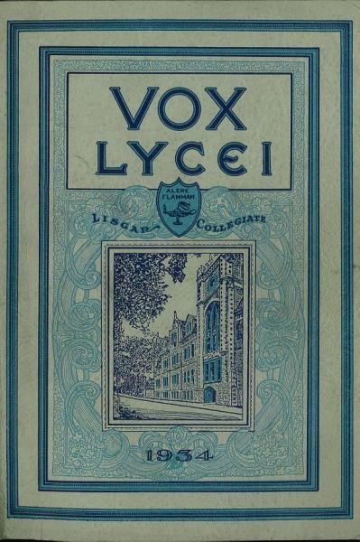 Vox Lycei 1933 1934