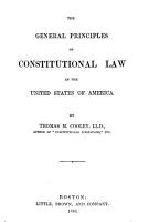 The General Principles of Constitutional Law in the United States of America PDF