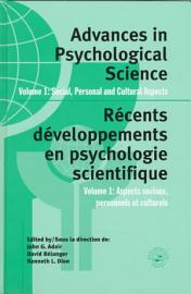 Advances In Psychological Science  Social  Personal  And Cultural Aspects