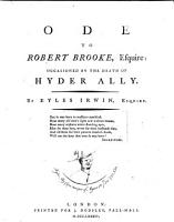 Ode to Robert Brooke  Esquire PDF