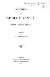 """Ancora della """"Spirto gentil"""" di Messer Francesco Petrarca"""
