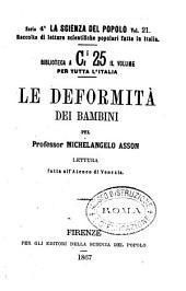 Le deformità dei bambini lettura fatta all'Ateneo di Venezia per Michelangelo Asson