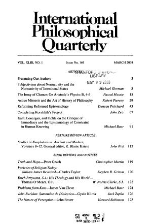 International Philosophical Quarterly