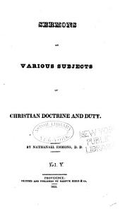Sermons on Various Subjects of Christian Doctrine and Duty: Volume 5