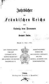 Jahrbucher der deutschen Geschichte: Bände 7-8