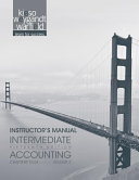 Instructor Manual Vol 2 t a Intermediate Accounting  Fifteenth edition