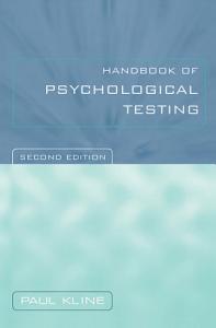 Handbook of Psychological Testing PDF