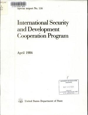 International Security and Development Cooperation Program PDF