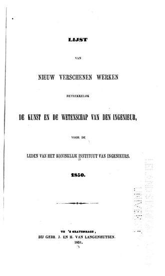 Lijsten van nieuw verschenen werken PDF